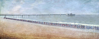 Photograph - Runners On The Beach Panorama by David Zanzinger