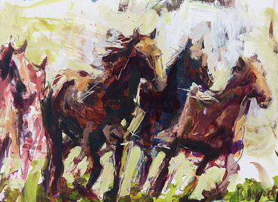 Painting - Runners by Robert Joyner