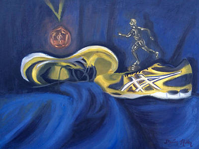 Painting - Runner's World by Dustin Miller