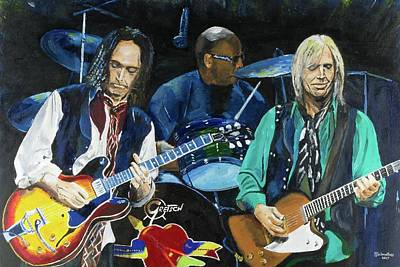 Painting - Runnin Down A Dream - Tom Petty by Bruce Schmalfuss