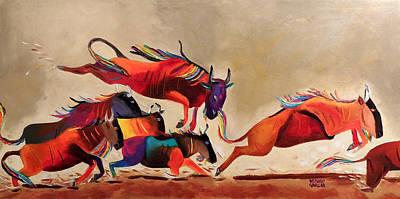 Running Art Print by Arturo Garcia