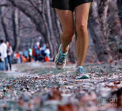 Marathon Digital Art - Running At Ground Level  by Steven Digman