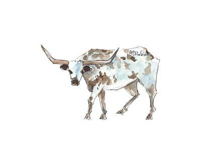 Painting - Running Back Texas Longhorn Lh070 by Kathleen McElwaine