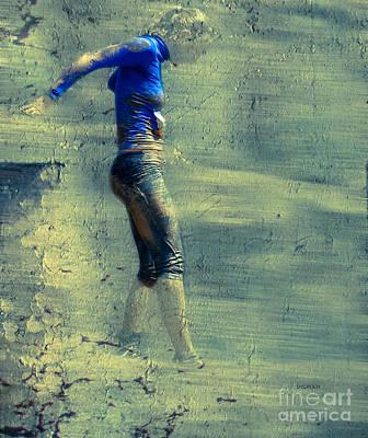 Running Digital Art - Running Blues  by Steven Digman