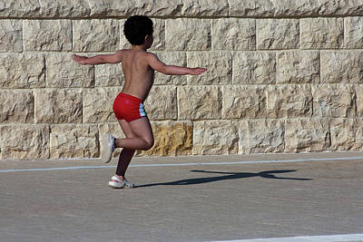 Photograph - Running Child by Bruno Spagnolo