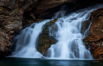 Photograph - Running Eagle Falls- Glacier National Park-montana by Tim Bryan