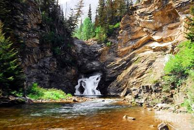 Photograph - Running Eagle Falls by Mel Steinhauer
