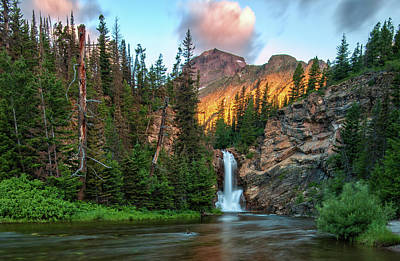 National Parks Photograph - Running Eagle Falls - Montana  by Thomas Schoeller