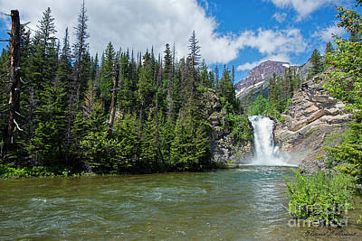 Photograph - Running Eagle Waterfall by David Arment