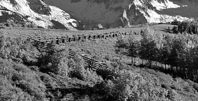 Photograph - Running Fence Black And White by David Lee Thompson
