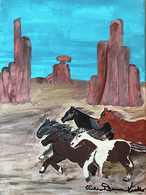 Painting - Running Free  by Dottie Phelps Visker