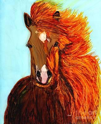Windblown Painting - Running Free by Eunice Warfel