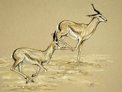 Drawing - Running Free by Heidi Kriel