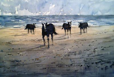 Animals Paintings - Running Free by Ryan Radke
