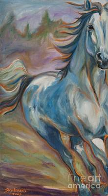 Canter Painting - Running Free by Sky Evans