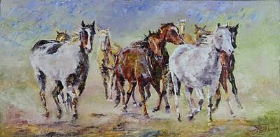 Montana Artist Painting - Running Home by Stephen David Rathburn