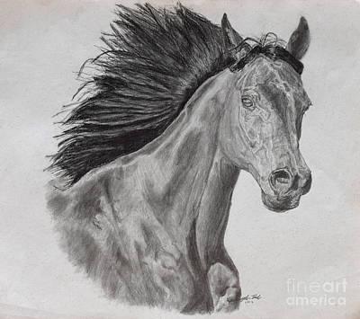Running Horse Art Print by Hanunyah Fish
