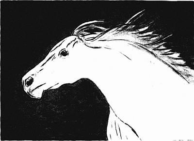 Running Horse Art Print by Philip Smeeton