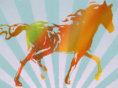 Therapy Room Painting - Running Horse Pop Art by Dan Sproul