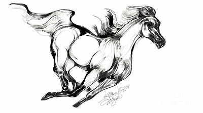 Running Horse Art Print by Stacey Mayer
