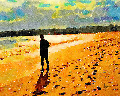 Painting - Running In The Golden Light by Angela Treat Lyon
