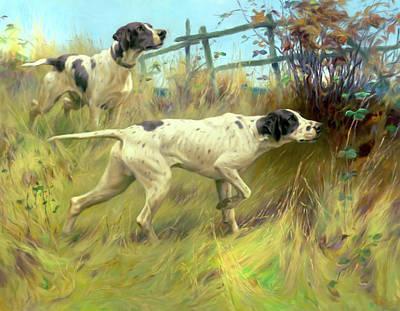 Meadows Mixed Media - Running In The Meadow by Georgiana Romanovna