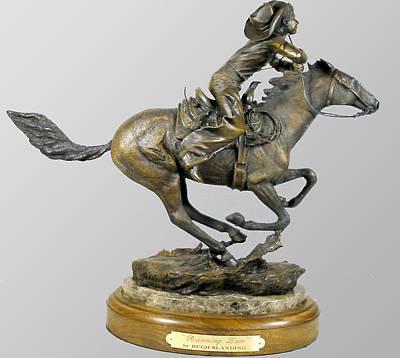 Sculpture - Running Late by Hugh Blanding