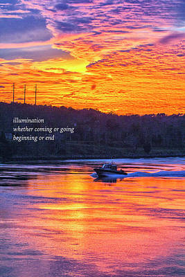 Photograph - Running Light Haiku by Constantine Gregory