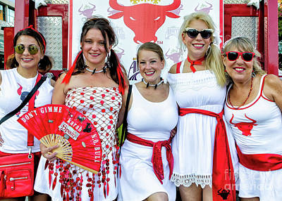 Photograph - Running Of Bulls Nola--runner Line Up by Kathleen K Parker