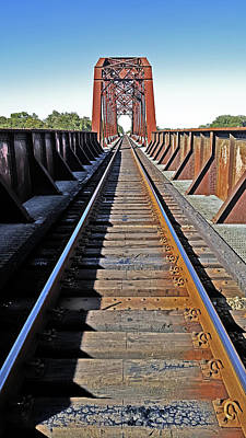 Photograph - Running On Train Bridge by Anthony Scarpace