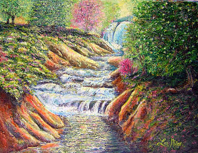 Painting - Running Rapids Near Natural Bridge by Lee Nixon
