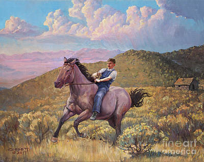 Mixed Media - Runaway Roan by Rob Corsetti
