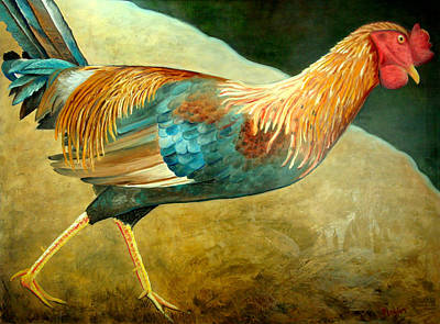 Painting - Running Rooster by Scott Plaster