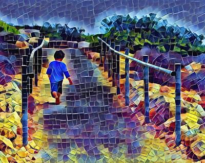 Digital Art - Running Running Running Running by Yury Malkov