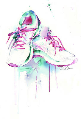 Painting - Running Shoes by Jamie Hansen