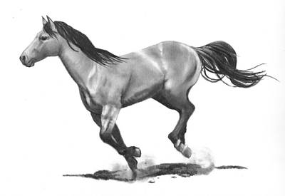 Running Stallion Art Print by Joyce Geleynse