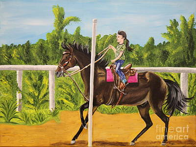 Running The Poles Print by Sheri LaBarr