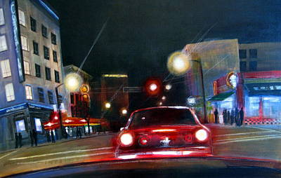 Painting - Running The Red Light by Victoria Heryet