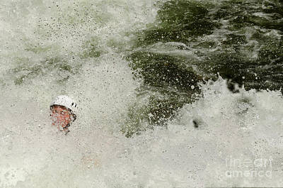 Photograph - Running Through Rapids by Les Palenik