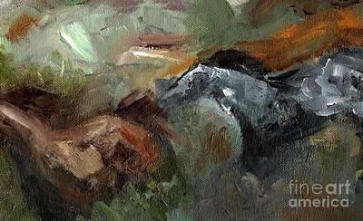 Running Through  Sage Art Print by Frances Marino