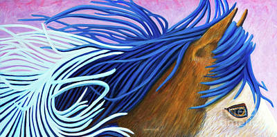 Painting - Running Thunder by Brian  Commerford