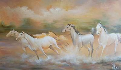 Painting - Running To Freedom  by Vali Irina Ciobanu