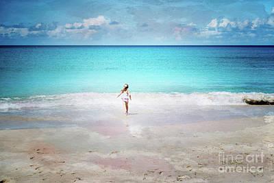 Digital Art - Running To The Sea by Betty LaRue
