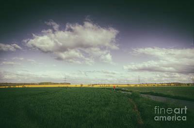 Jog Digital Art - Running Towards The Light by Nigel Bangert