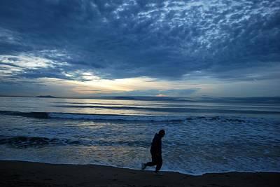 Photograph - Running Towards Your Dreams - Beach Sunset by Matt Harang