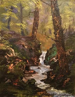 Painting - Running Waters On Cannock Chase by Jean Walker