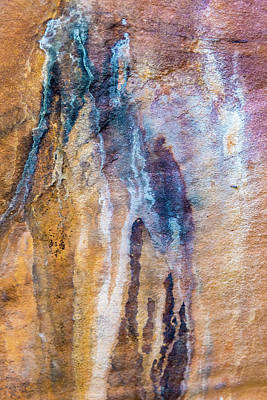 Art Print featuring the photograph Runoff Abstract, Bhimbetka, 2016 by Hitendra SINKAR