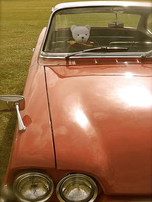 Rupert Bear Out For A Drive Art Print by John Colley