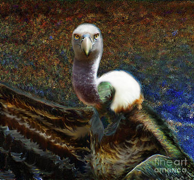 Digital Art - Ruppell's Vulture by Lisa Redfern