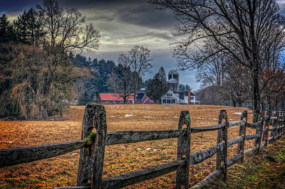 Split Rail Fence Photograph - Rural America by Everet Regal